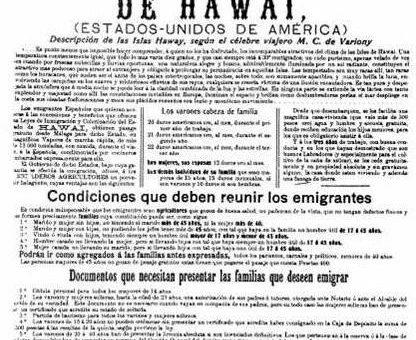 INMIGRANTES ESPAÑOLES EN HAWAI